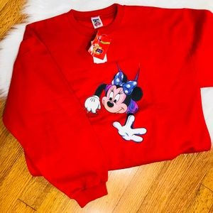Disney Minnie Mouse red pullover sweater